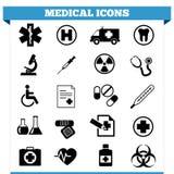Medizinischer Ikonen-Vektor-Satz Stockfotos