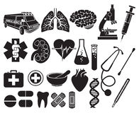 Medizinischer Ikonensatz Stockbild