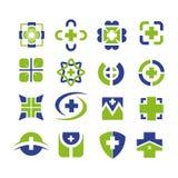 Medizinischer Ikonensatz-Logoentwurf vektor abbildung