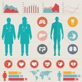 Medizinischer Infographic Satz Stockfoto