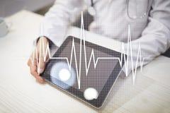 Medizinischer Konzepthintergrund des Impulses Medizin und Gesundheitswesen Stockfotos