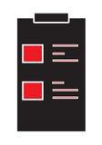 Medizinischer lokalisierter weißer Hintergrund der Diagrammikone Vektor Stockbild