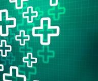 Medizinischer querer grüner Hintergrund Stockfotos