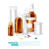 Medizinischer realistischer Hintergrund lizenzfreie abbildung