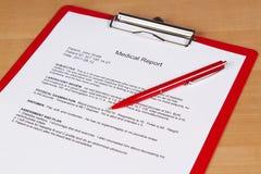 Medizinischer Report Lizenzfreie Stockfotografie
