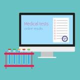 Medizinischer Test Vektoron-line-illustration Stockfotografie