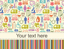 Medizinischer Vektorhintergrund mit Platz für Text Lizenzfreies Stockfoto