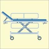 Medizinisches Bahrenbett auf Rädern Stockbilder