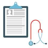 Medizinisches Diagramm mit Stethoskop Stockbild
