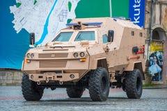 Medizinisches gepanzertes Fahrzeug Didgori gemacht in Georgia Stockbild