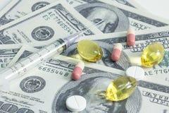 Medizinisches Geschäft, auf weißem Hintergrund. Stockfoto