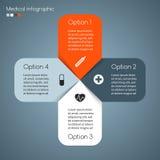 Medizinisches Gesundheitswesenpluszeichen des Vektors infographic Stockfoto