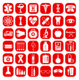 Medizinisches Ikonen-Set Stockfotos