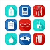 Medizinisches Ikonen-Set Stockfotografie