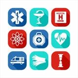 Medizinisches Ikonen-Set Stockfoto