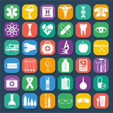 Medizinisches Ikonen-Set Lizenzfreie Stockfotos