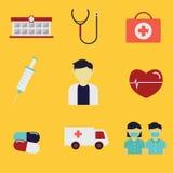 Medizinisches Ikonen-Set Lizenzfreie Stockbilder