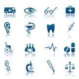 Medizinisches Ikonenset lizenzfreie abbildung