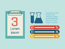 Medizinisches Infographic. Lizenzfreie Stockfotografie