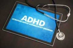 Medizinisches Konzept Diagnose ADHD (neurologische Erkrankung) auf Tablette Stockfoto