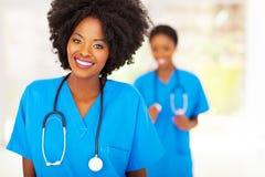 Afrikanische medizinische Krankenschwester stockbilder