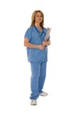 Medizinisches Personal getrennt auf Weiß Stockbilder