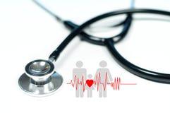 Medizinisches Stethoskop Krankenversicherungs-Konzepte Lizenzfreies Stockbild