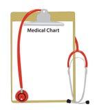Medizinisches Stethoskop mit einer Krankheitkarte. Lizenzfreies Stockbild