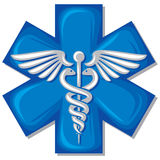 Medizinisches Symbol des Caduceus Lizenzfreie Stockbilder