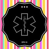 Medizinisches Symbol des Notfalls - Stern des Lebens Stockbilder