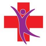 Medizinisches Symbol und Mann Stockbild