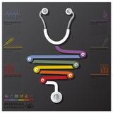 Medizinisches und Gesundheits-Verbindungs-Zeitachse-Geschäft Infographic Stockfotografie
