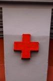 Medizinisches Zeichen des roten Kreuzes Stockbild