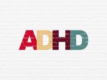 Medizinkonzept: ADHD auf Wandhintergrund Lizenzfreie Stockfotos