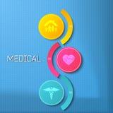 Medizinkonzept befördert Darstellungsflieger template02 Lizenzfreie Stockbilder