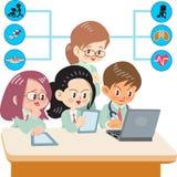 Medizinstudenten lizenzfreie abbildung