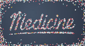 Medizintitel geschaffen von den Pillen Lizenzfreies Stockbild