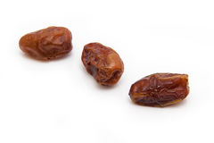 Medjool dates isolated on a white background. Stock Images
