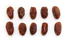 Medjool dates isolated on a white background. Royalty Free Stock Photo
