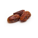 Medjool dates isolated on a white background. Royalty Free Stock Photography