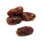 Medjool dates isolated on a white background. Stock Photo