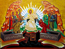 Medjugorje - икона от общины Cenacolo стоковое изображение