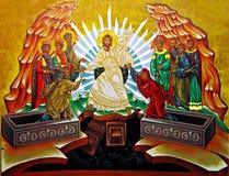Medjugorje - eine Ikone von der Gemeinschaft Cenacolo Stockbild