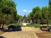 Medjugorje - Mother's Village, a monument to Father Slavko Barba Royalty Free Stock Images