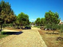 Medjugorje - a vila da matriz, um monumento para genar Slavko Barba Fotografia de Stock