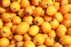 Medlar fruits pattern background texture market Royalty Free Stock Photography