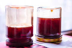 Medlar jelly cooling down Stock Images