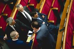 Medlemmar av politiska partiet för opposition för oppositionblock det ukrainska arkivfoto