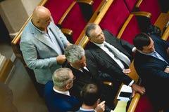Medlemmar av politiska partiet för opposition för oppositionblock det ukrainska arkivbild