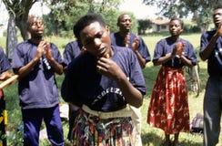 Medlemmar av reproduktiva vård- arbetare för gemenskap, Uganda royaltyfria bilder